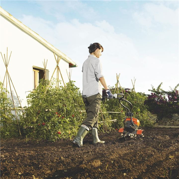 Use your Husqvarna Tiller whenever you need it– it's easy to start and has a powerful engine